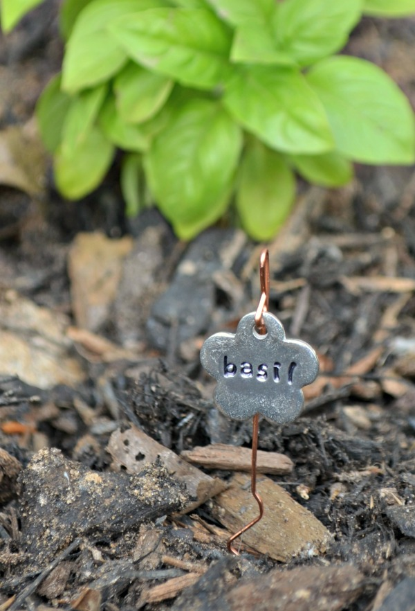 Stamped DIY Garden Markers - One Artsy Mama