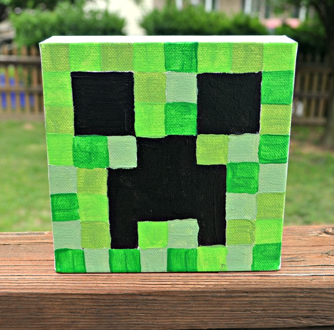 Minecraft Canvas Creeper
