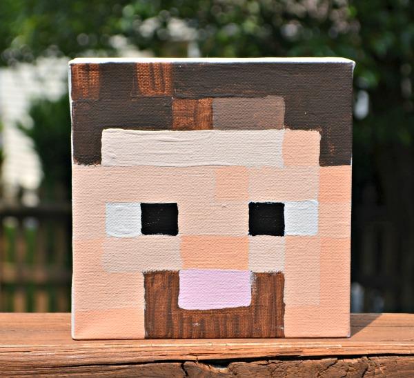 Minecraft Steve Canvas