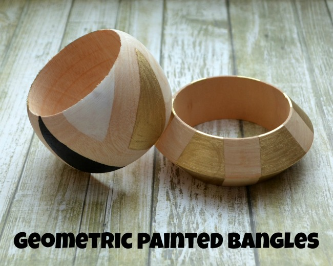 Geometric Painted Bangles