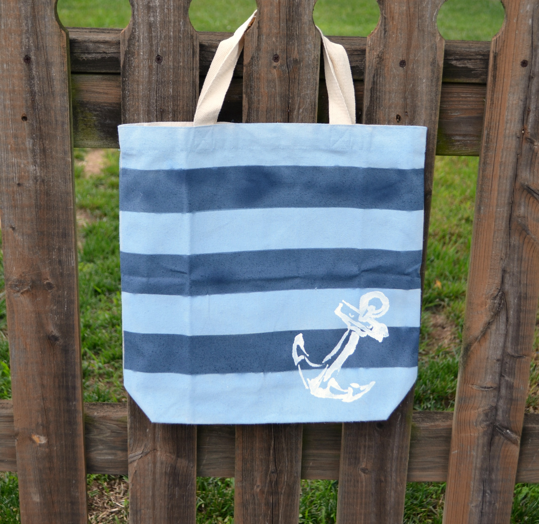 Nautical Striped Tote Bag
