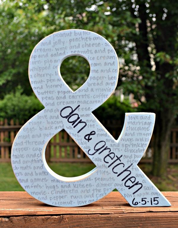 Ampersand Wedding Gift Amy Latta Creations