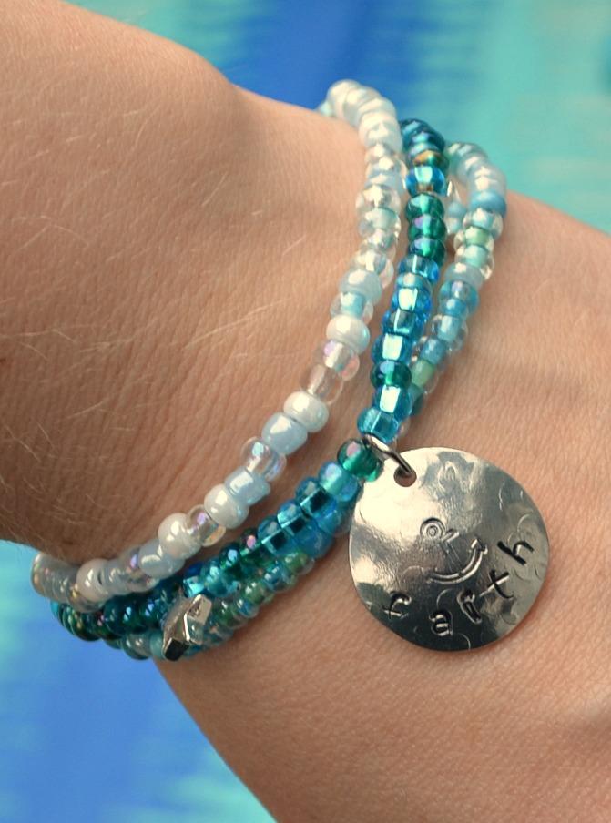 beaded charm bracelet one artsy