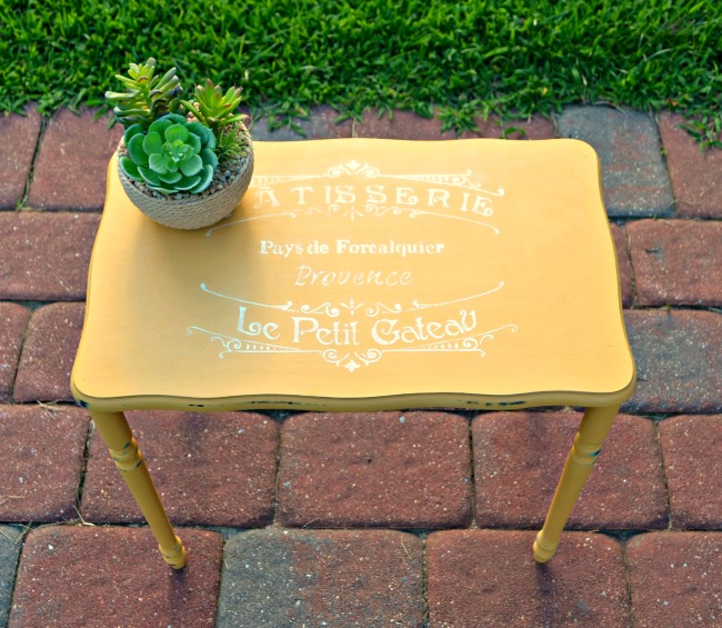 Yellow Painted Table