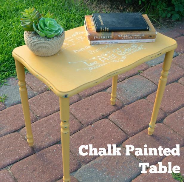 Chalk Paint End Table
