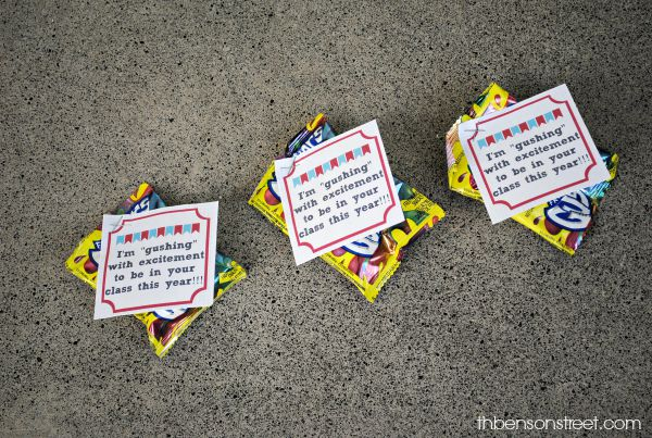 Back to School Classroom Gift with Printable Tags