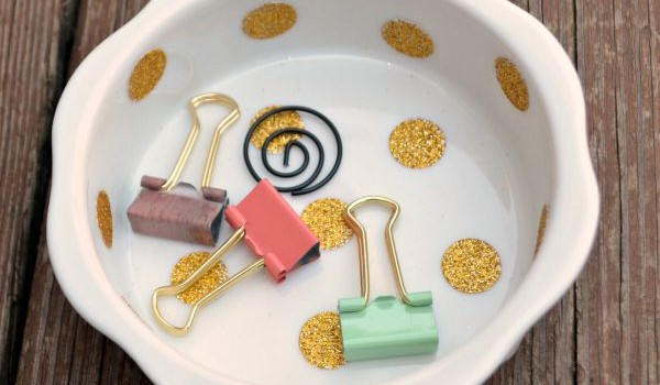 Easiest Ever Polka Dot Dish
