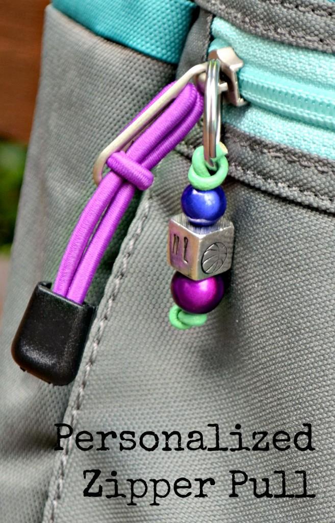 Personalized Zipper Pull