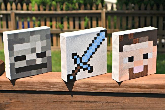 Minecraft Canvas Art Squares