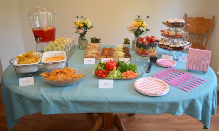 baby shower the food table one artsy mama