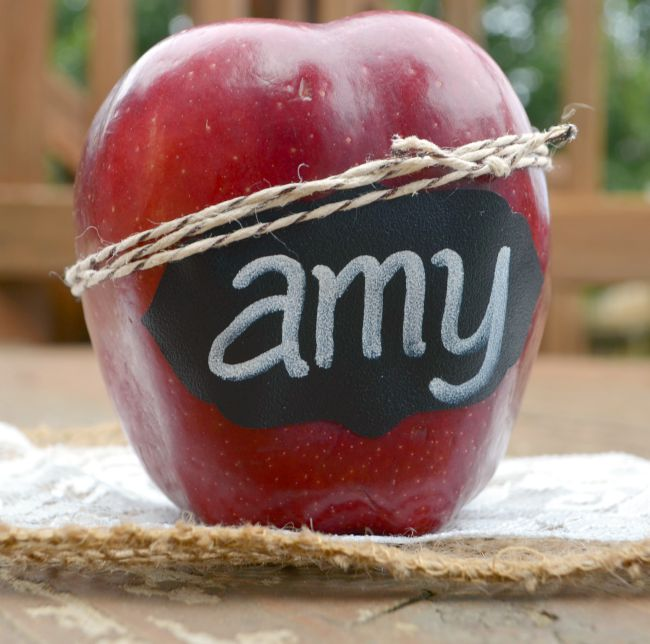 Apple Place Cards