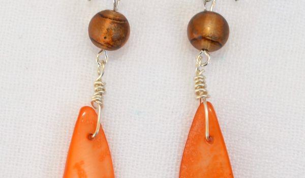 Autumn-Inspired Shell Earrings