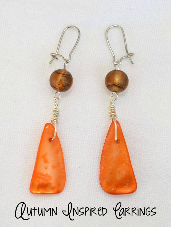 Autumn Inspired Dangle Earrings Tutorial