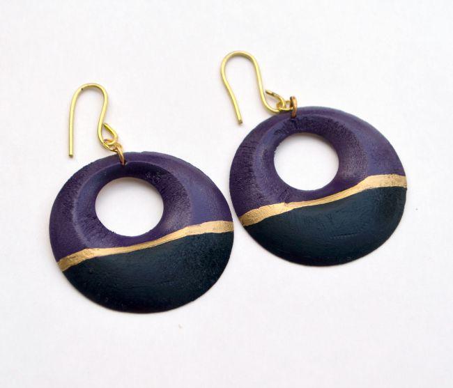 Color Block Earrings with Krylon Spray Paint