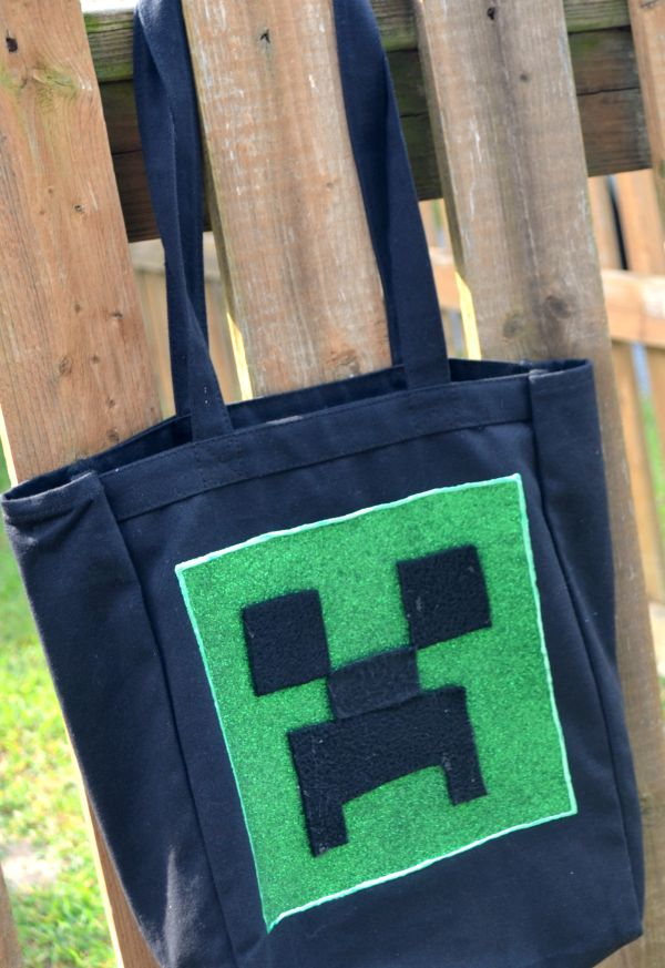 DIY Minecraft Creeper Tote Bag