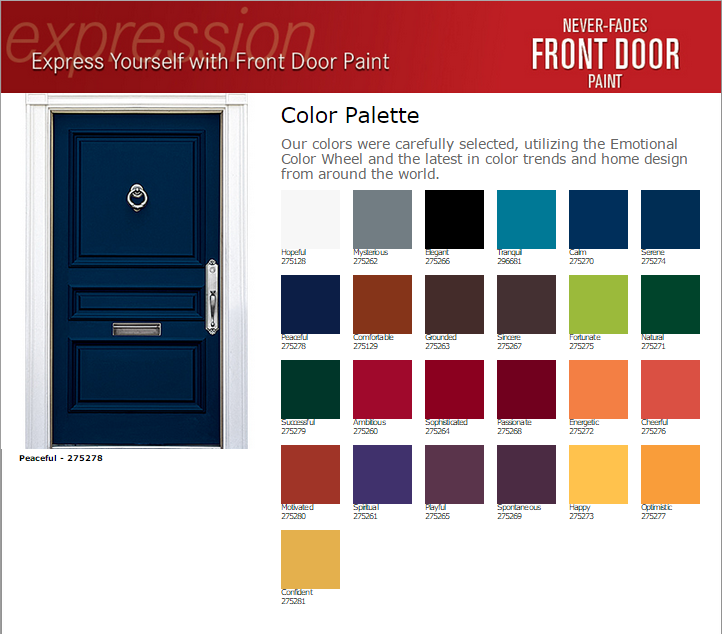 Modern Masters Front Door Paint Colors