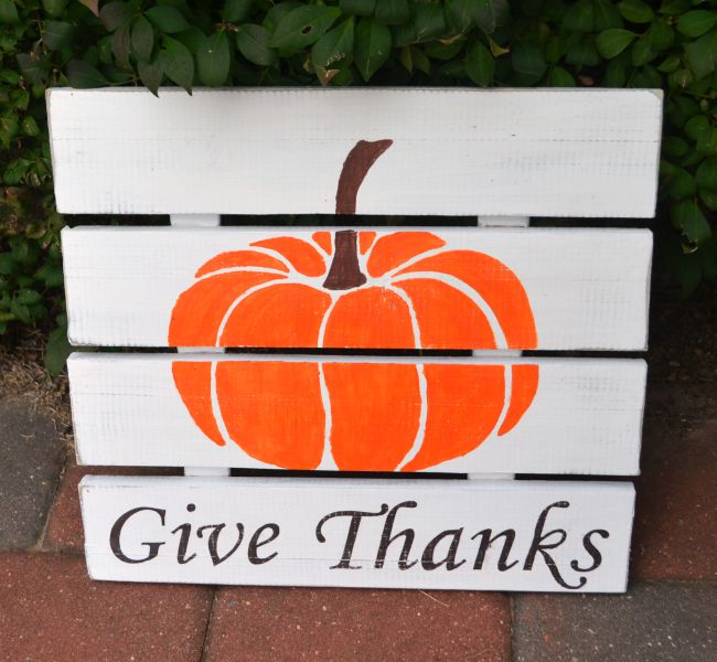 DIY Fall Wooden Sign