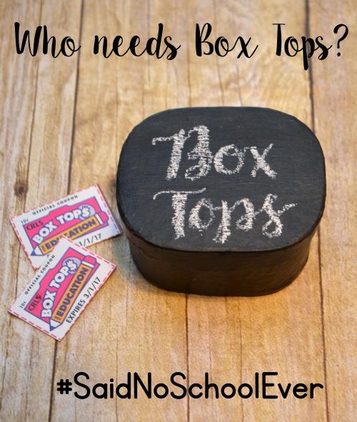 Box Tops Collection Box