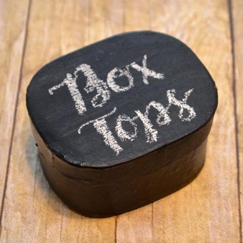 Box Tops Chalkboard Box