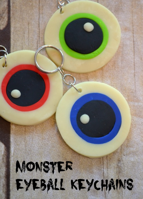 Monster Eyeball Keychains