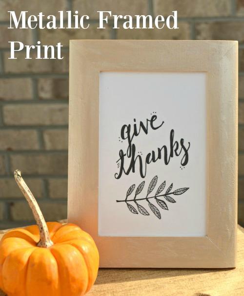 Metallic Frame with Thanksgiving Printable