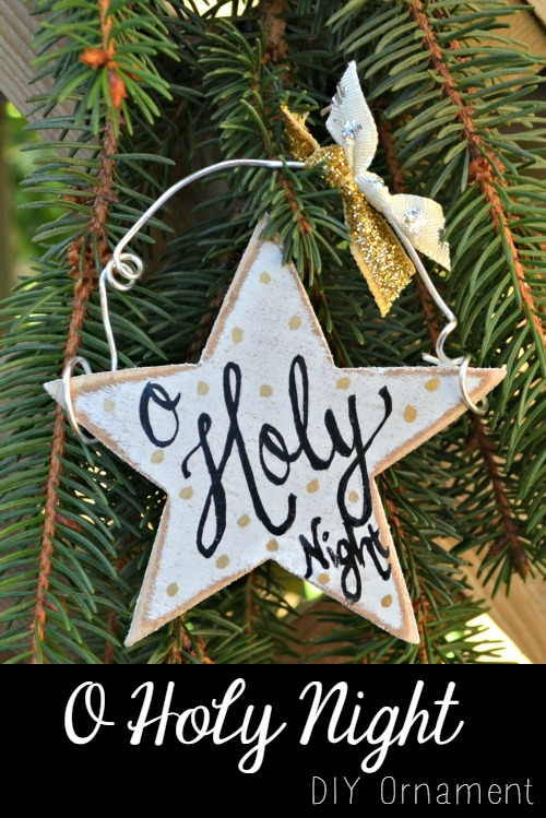 30 diy rustic christmas decorations the crafting nook by for O holy night decorations