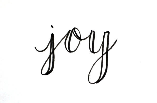 Basic Hand Lettering JOY Amy Latta Creations