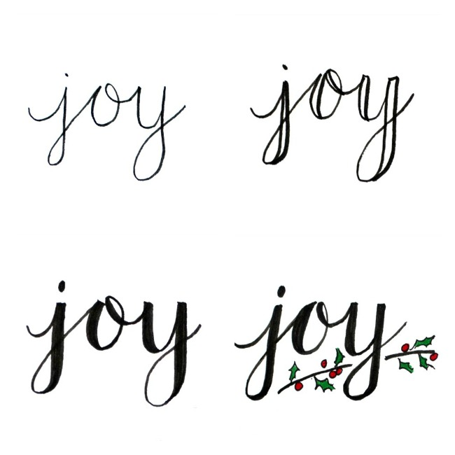 Basic hand lettering joy amy latta creations Calligraphy basics