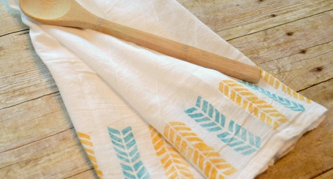 Fabric Stamped Kitchen Towels
