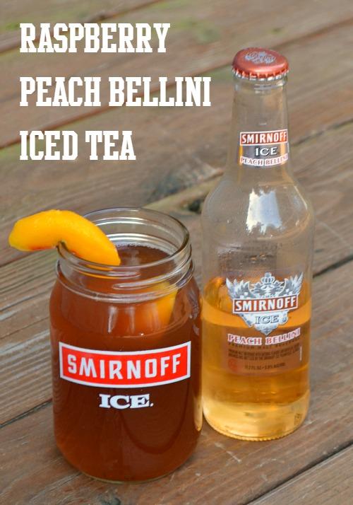 Raspberry Peach Bellini Iced Tea