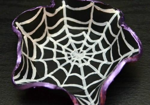 Spider Web Clay Bowls