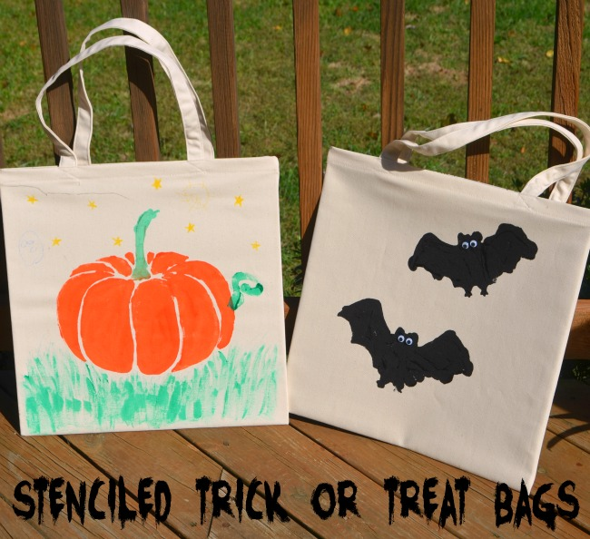 Stenciled Trick or Treat Bags