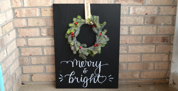 Merry & Bright Chalkboard Wreath Project