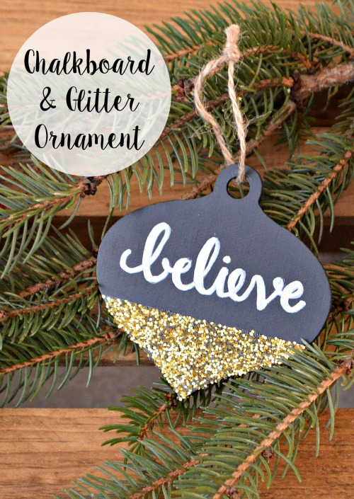 Chalkboard Glitter Ornament