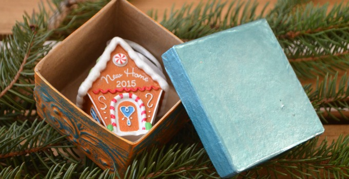 Hallmark Ornaments and DIY Metallic Gift Boxes