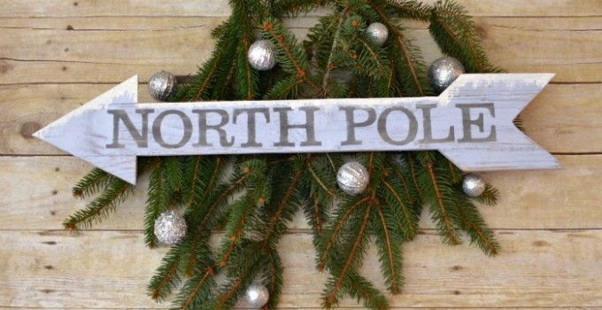 North Pole Arrow Sign