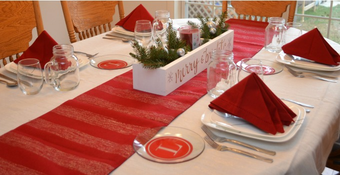 Holiday Tablescape with Shutterfly