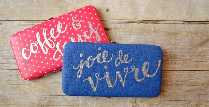 Hand Lettered Wallet Gift Idea