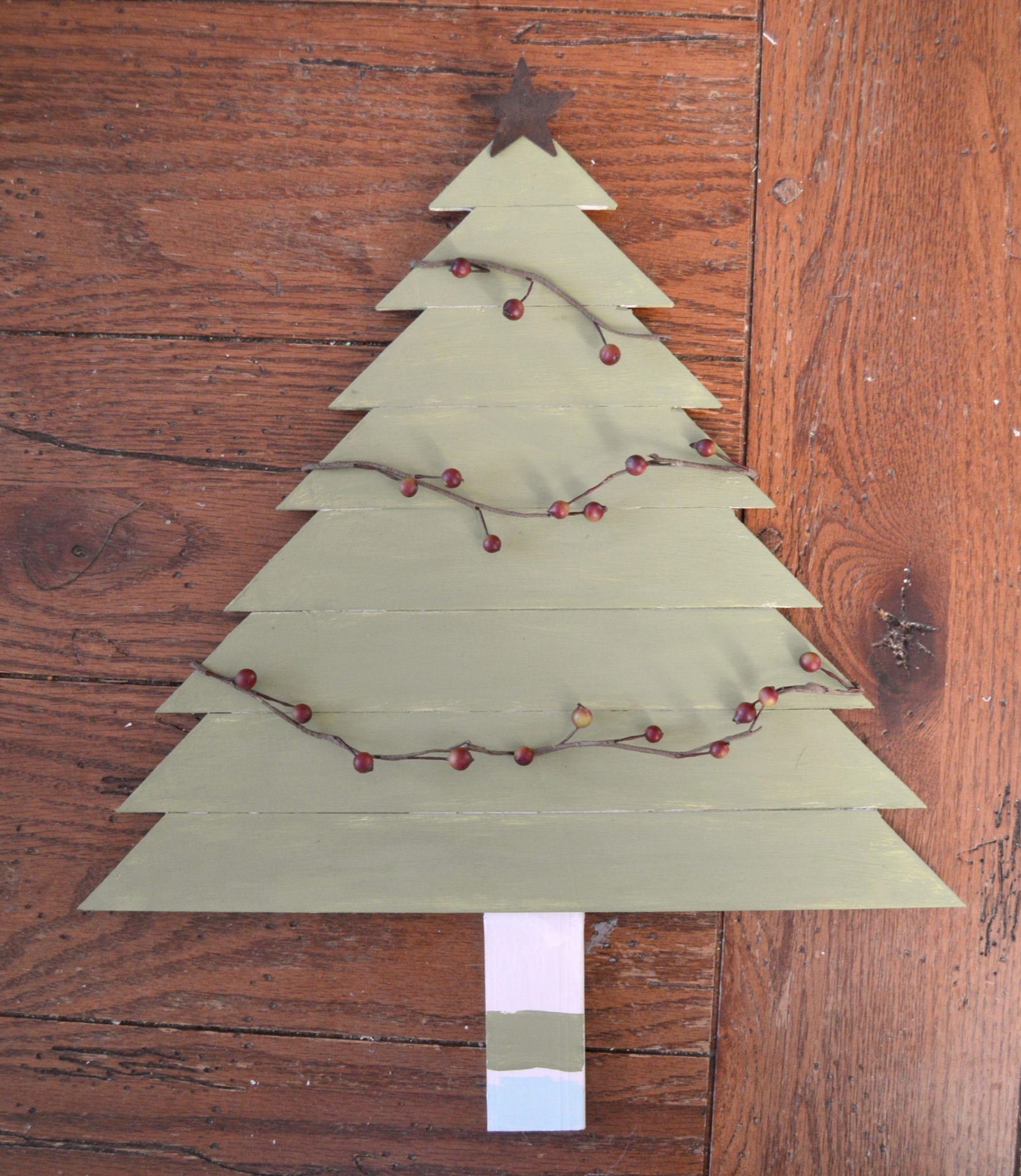 Wooden christmas tree box one artsy mama for Christmas tree in a box