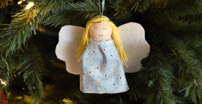 Glowing Angel Ornament
