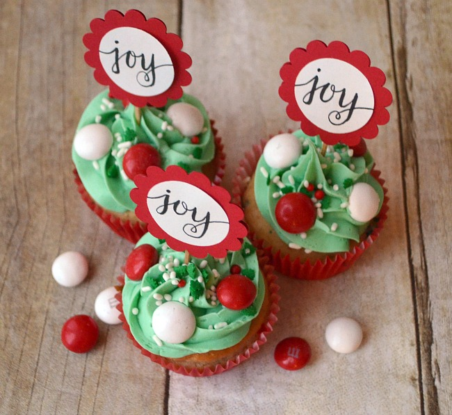 Merry Mint Cupcakes