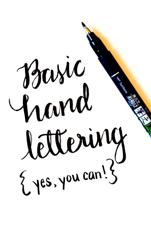 Basic hand lettering whimsical print amy latta creations Calligraphy basics