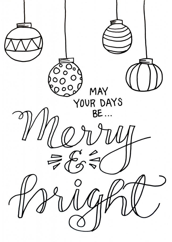 Christmas Coloring Page - Amy Latta Creations