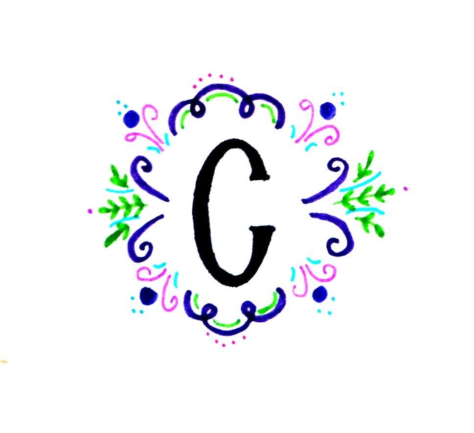 Hand Lettered Monogram Idea