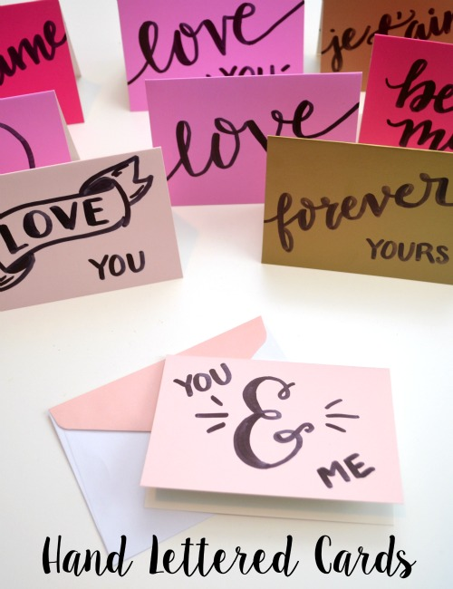 Hand Lettered Valentine Notecards One Artsy Mama – Talking Valentine Cards