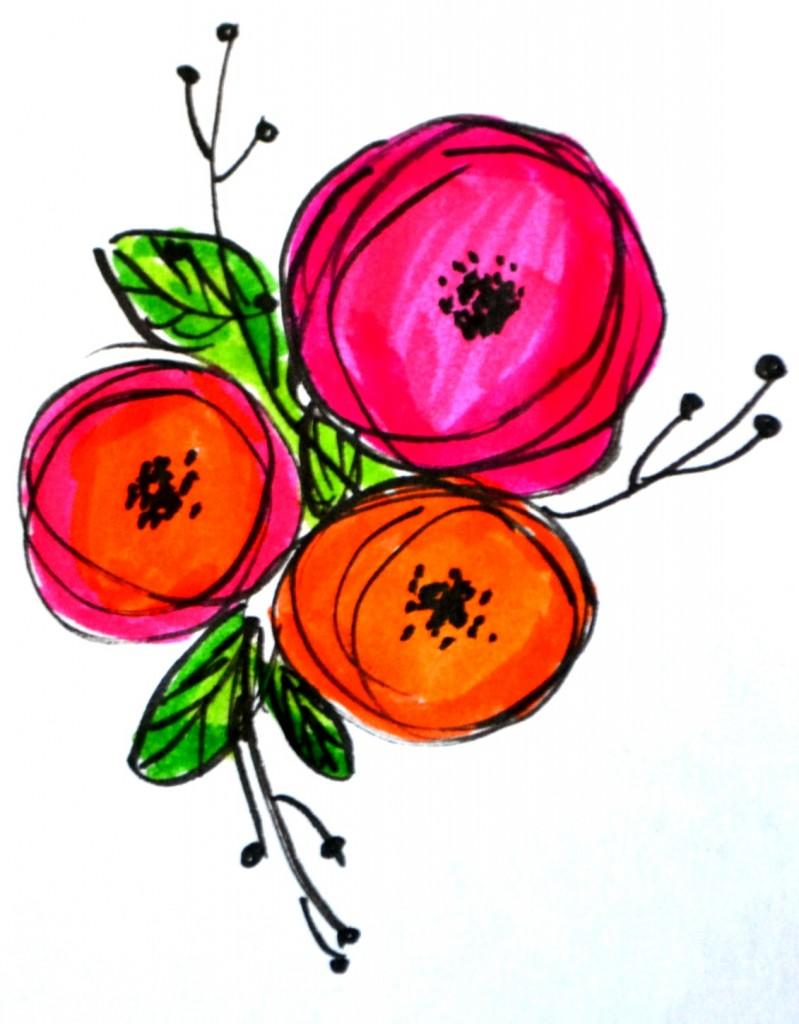 Basic Hand Lettering: Flower Embellishments - Amy Latta ...