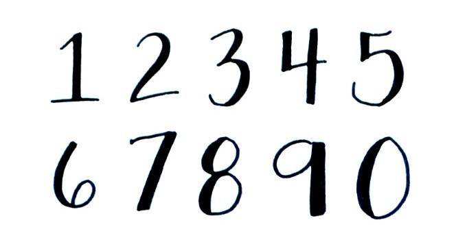 Basic Hand Lettering: Numbers