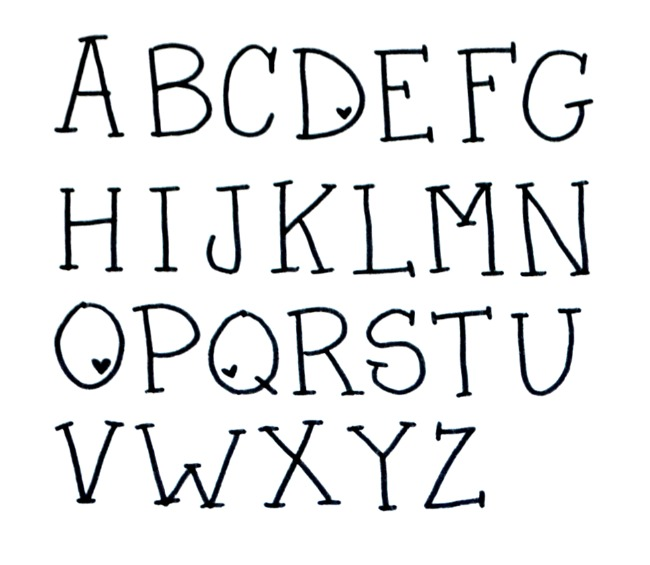 Valentine Hand Lettering Font on Latest Cool Ways To Write Letters