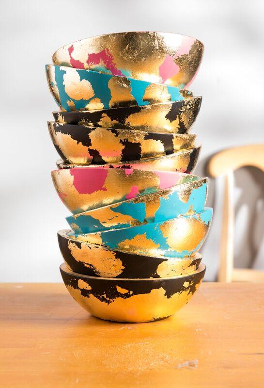 Decorative Gilded Bowls