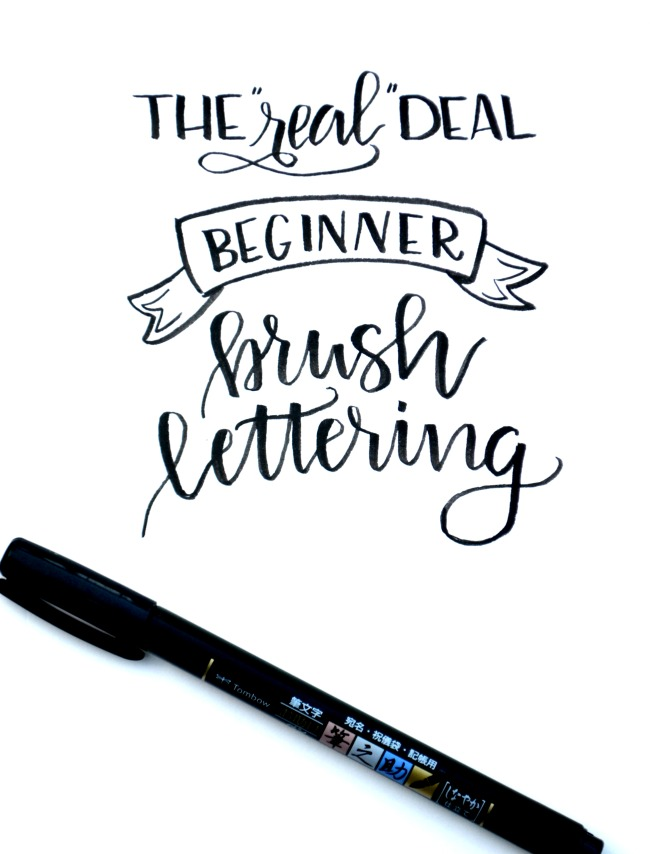 Beginner brush lettering basic brushstrokes amy latta